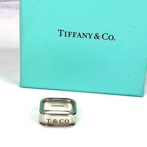 TIFFANY & CO 1837 Square Ring Sterling Silver Sz 5